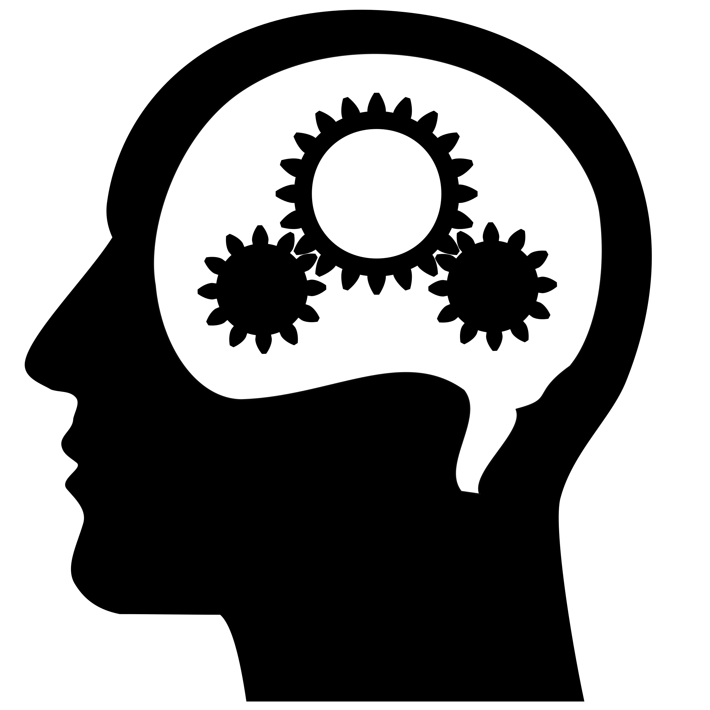 thinking brain machine vector clipart proclaim defend
